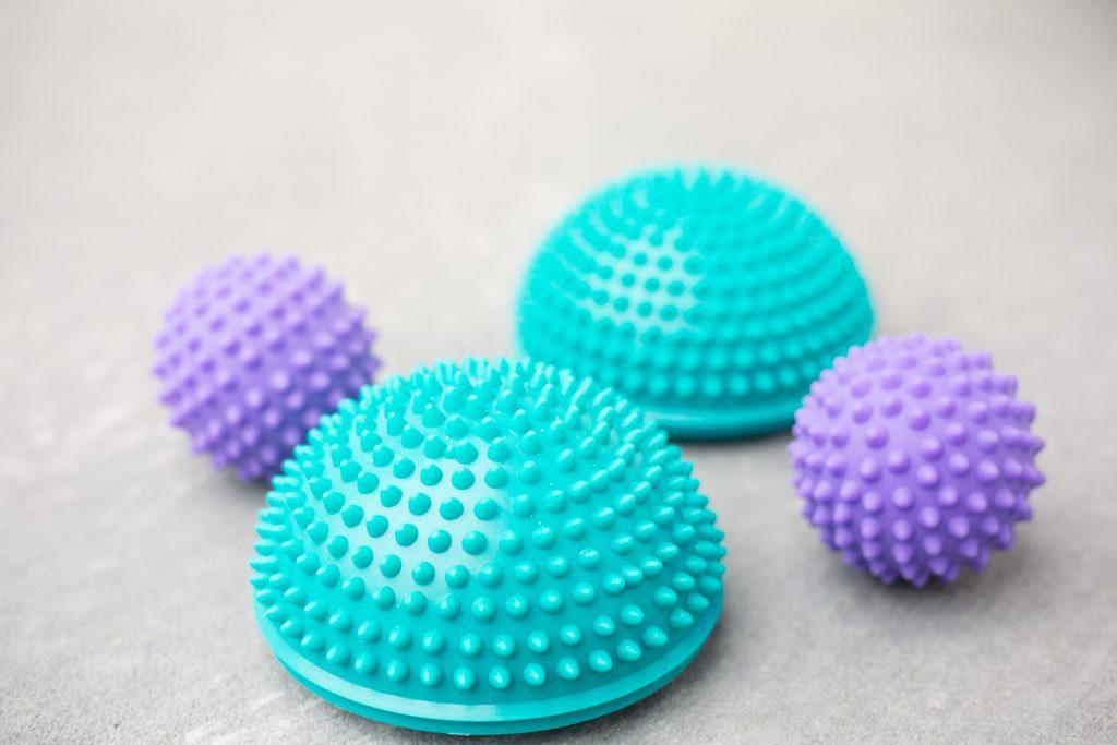 Glute balls and balancing balls