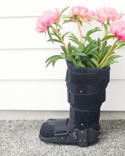 moonboot with flowers in it